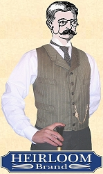 Vest - Notched Lapeled Gentlemen's Vest - Dress Wool - Heirloom Brand