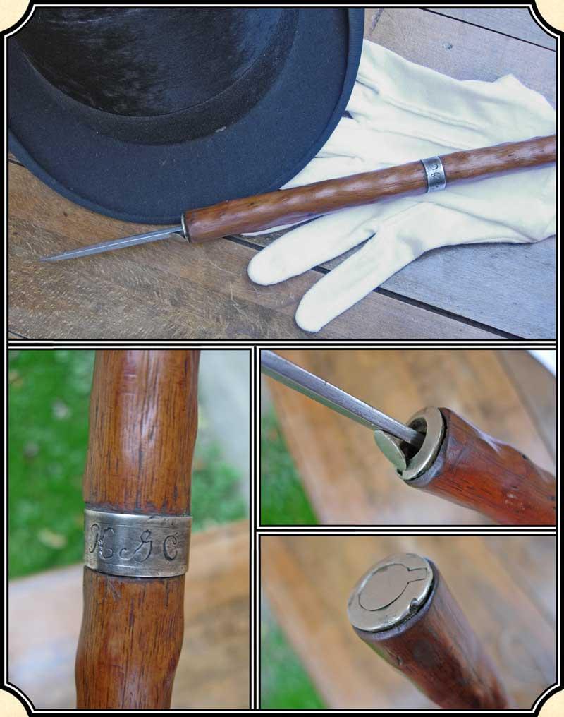 Z Sold Antique Flick Stick Cane Sword Cane