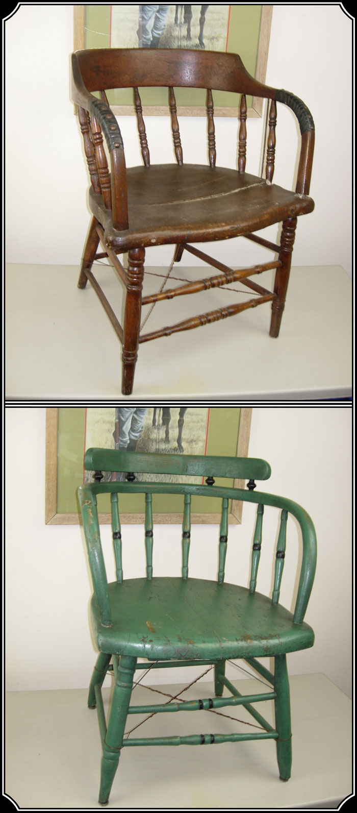 z Sold ~ Saloon Chair, Captains chair, caboose chair.