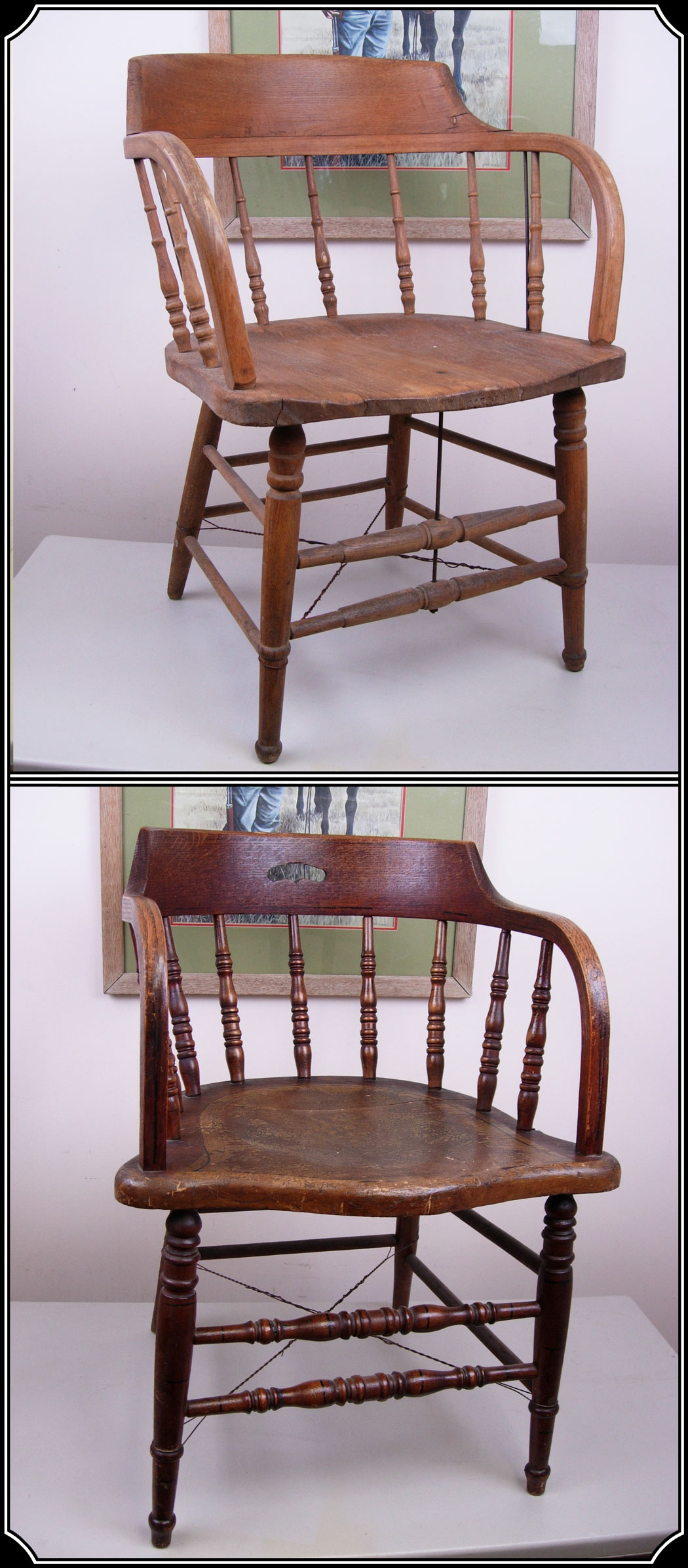 Antique captains chairs - Saloon Chair Captains Chair Caboose Chair Click To Enlarge