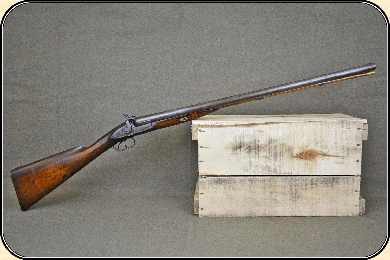 Sold 10 ga double barrel percussion shotgun