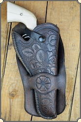 Hand tooled Moose Brand Holster