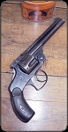 "Smith & Wesson .38 4th issue, top break with 5"" barrel"