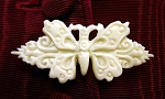Jewelry - Hand-carved Bone ~ Victorian Butterfly Brooch Pin