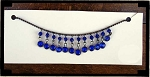 Princess Necklace with Blue Stones