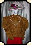 Blouse - One of a Kind Kalamity Karen Victorian Bibbed Blouse