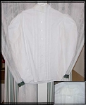 Blouse - 50% Off Ladies Shirtwaist - White Cotton - Mismatched Off-white Collar