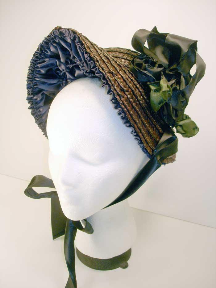 Ladies Hat Coquette Straw Bonnet From Civil War Era