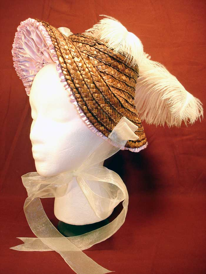 Ladies Hat Coquette Straw Bonnet from Civil War Era and After