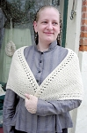 Cape - Hand-crocheted 100% Natural Un-dyed Wool Victorian Shawl ~ One-of-a-Kind