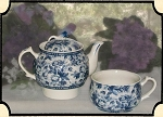 Tea Pot - Blue and White Tea for One