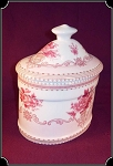 Curio ~ Classic Victorian Trinket Box ~ Rose and White