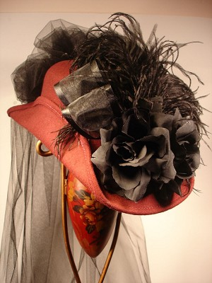 z Sold ~ Ladies' Victorian Hat - Kate Riding Hat