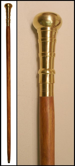 z Sold ~ Cane - Brass Knob Walking Stick