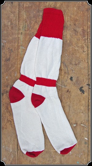 Boot Socks Red Top