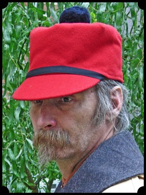 Men's Hat - Stockman or Scotch Cap - Red - 80 %Wool