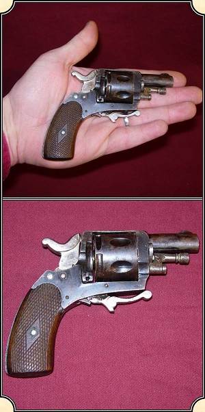 z Sold ~ British Bulldog Revolver with Folding Trigger, Antique