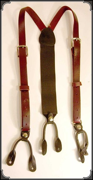 z Sold ~ USED leather suspenders