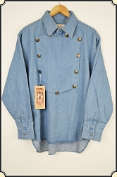 Shirt - Medium Weight Chambray Bib Front from Scully