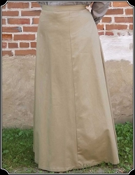 Skirt ~ 1880s Walking Skirt - Heirloom Brand - Khaki