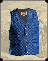 Pecos Vest in Blue Jacquard from Frontier Classics