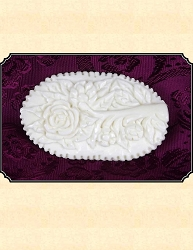 Jewelry - Hand-carved Bone ~ Victorian Camelia Brooch Pin
