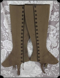 Victorian Ladies Vintage Leggings or Spats Size 5