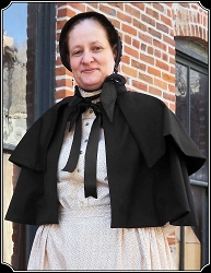 Cape - Ladies' Victorian Two-layer Capelet by Heirloom Brand