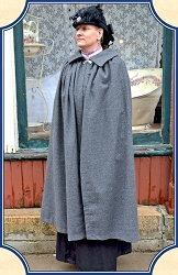 Cape - Grey Ladies Long Walking Cape