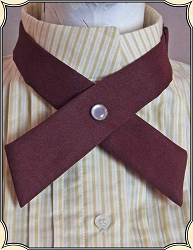 Ladies Burgundy Ribbon Tie