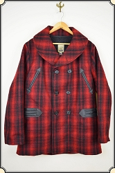 NEW - Premium Mackinaw Coat - Red Wool with Lining - Heirloom