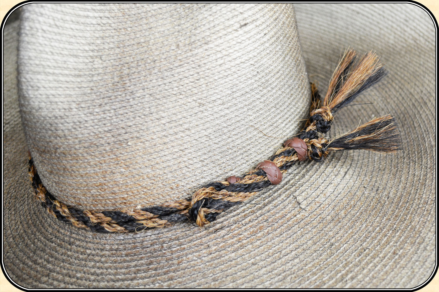 c014098f037 Twisted horse hair hat band 1 2 inch - Click to Enlarge Image
