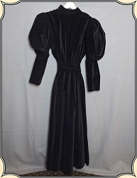 Recollections Black Velvet Dress - Size Large