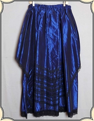 Recollections Taffeta Skirt Blue Size XL