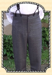Trousers - Wool Plaid Grey and Black Heirloom Brand