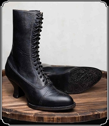 Shoes - Ladies Mirabelle - Full lace-up - Leather