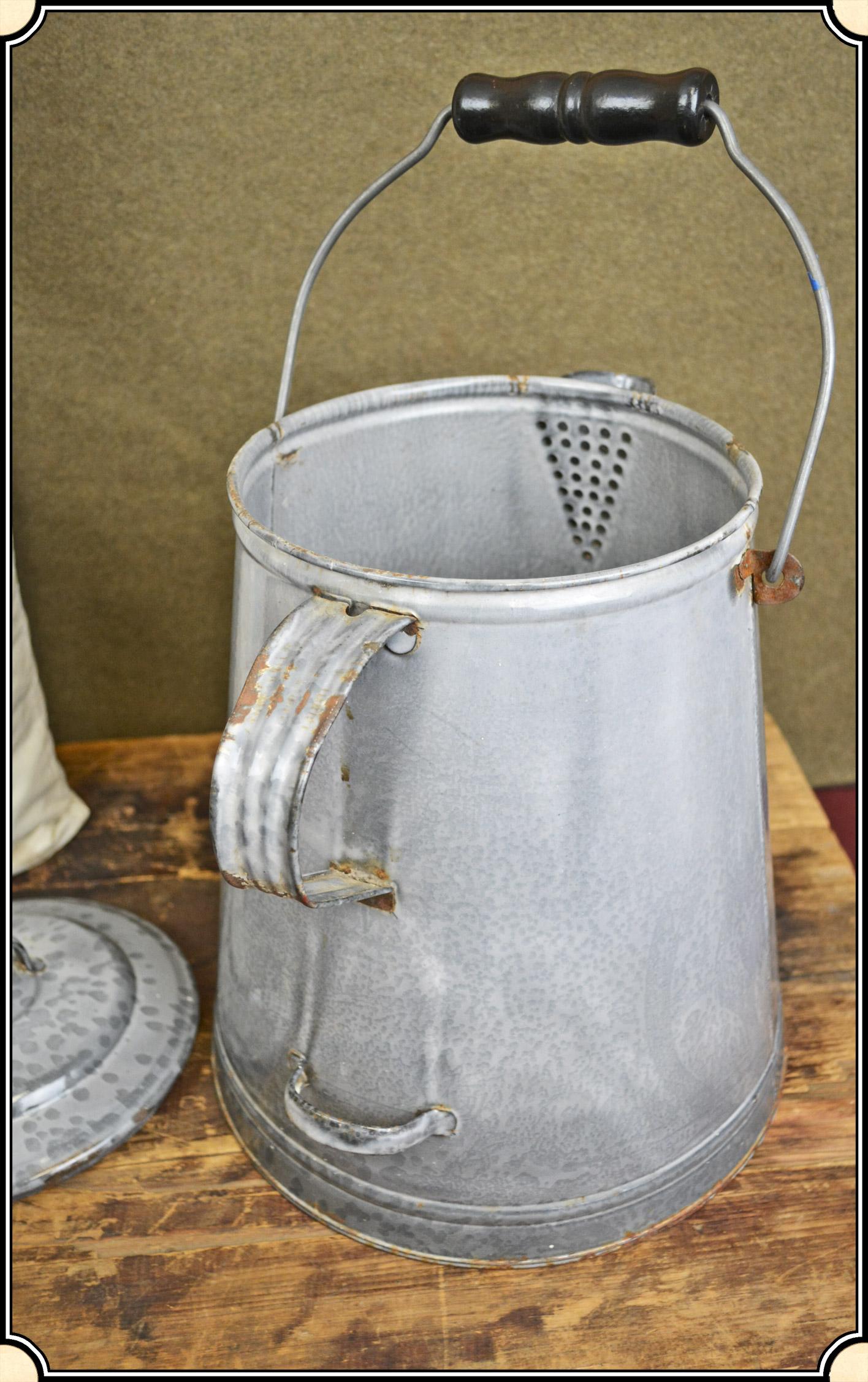 Chuck Wagon Enameled Coffee Pot