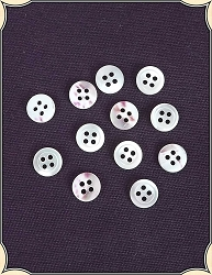 Buttons ~ Pearl  Blouse Buttons Pack of 6