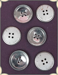 Buttons ~ Civil War Metal Covered Paperback Buttons Pack of 6