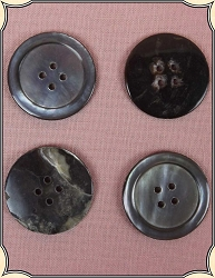 Buttons ~ Large Mother of Pearl Buttons Pack of 4