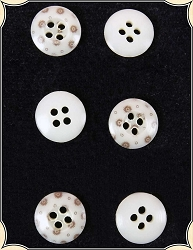 Buttons ~ Small Calico Buttons Pack of 6