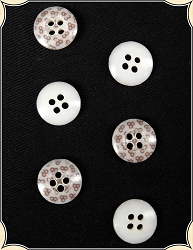 Buttons ~ Small Reproduction Calico Buttons Pack of 6