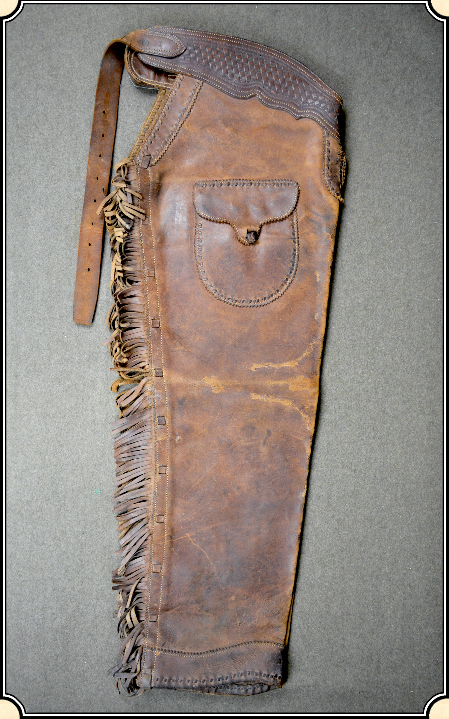 Original Antique shotgun chaps. - Click to Enlarge Image