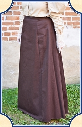 Skirt - 1880s Inspired Skirt in Brown Cotton Heirloom Brand