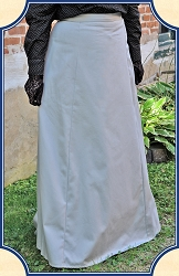 Skirt - 1880s Back-pleated Victorian Walking Skirt - Light Gray - Heirloom Brand