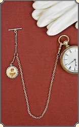 Silver Sweetheart Watch Chain with fob