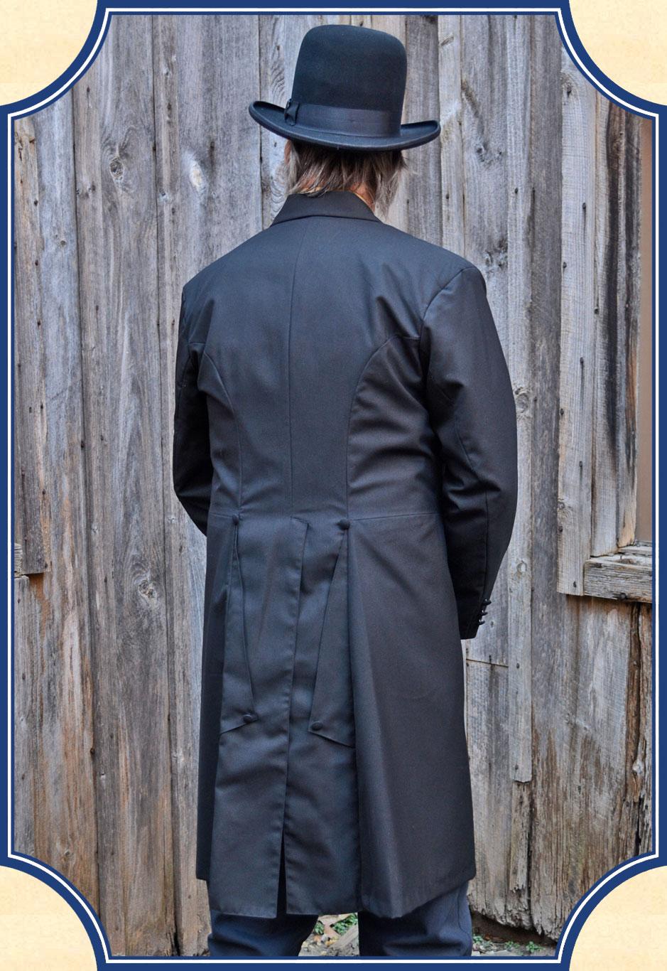 Prince Albert Frock Coat In Black Wool Blend