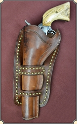 Cheyenne Holster with brass spots  7-1/2 inch.