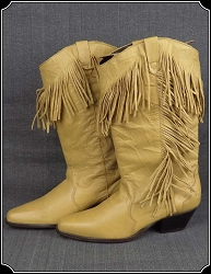 Ladies Western Fringe Boots HOT Offer