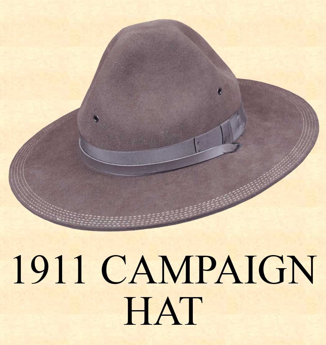 832e8d34a7a462 Men's Hat - 1911 CAMPAIGN HAT Hat Body Wool Felt